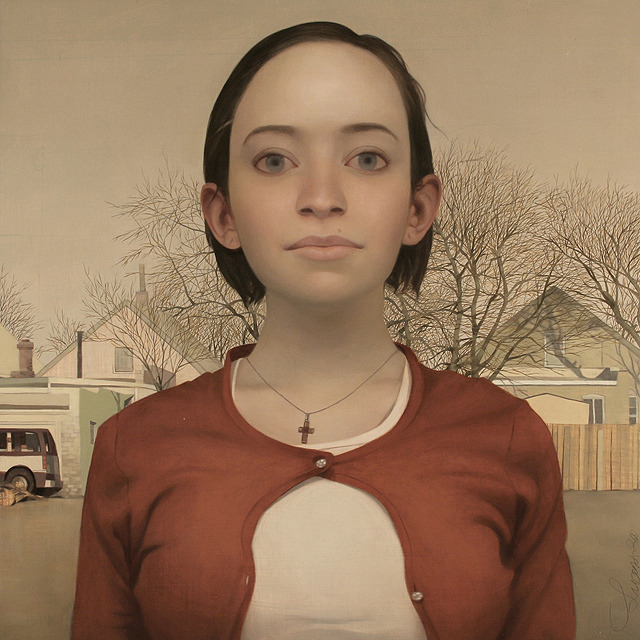 Ms. Kimberly, oil on panel, 30 x 30inches, 2009