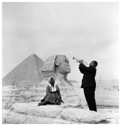 theimpossiblecool:  Louis and Lucille Armstrong, Egypt, 1961.