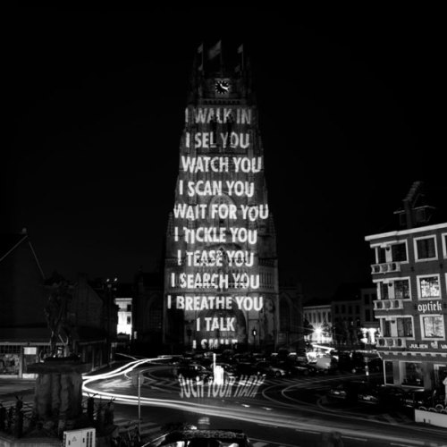 visual-poetry:  Projections by jenny holzer in tongeren (2004)