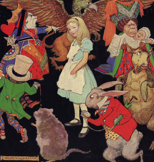 "fairytalemood:  ""Alice in Wonderland"" by Jessie Willcox Smith"