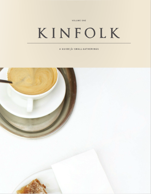 Issue 1 of Kinfolk Magazine is out. Hoorah! You can see it online (make sure to view it full-screen) and there's also a limited number of print copies available. I got my own copy in the mail on Monday — and whoa. Gorgeous.  I've contributed a story about Cloth Napkins (pages 88-95 on the web), and a few others of my photos are also used throughout the magazine. This is also my photo on the cover.