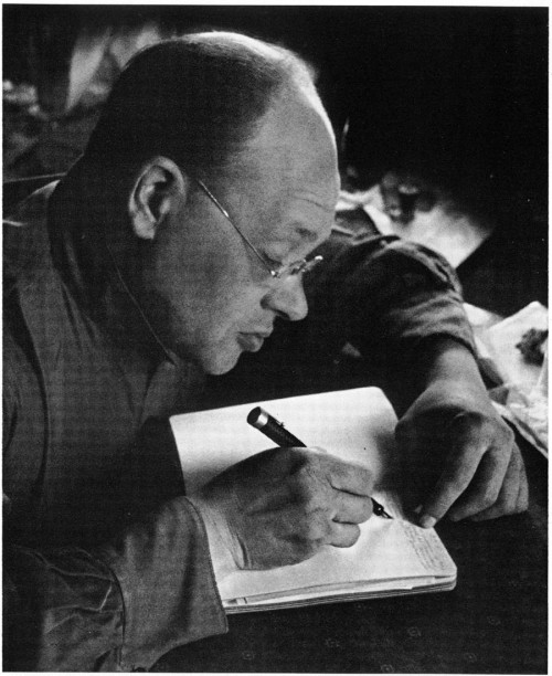 "The Death of Isaac Babel ""Only after they charged him with the crime of silence did Babel discover how many kinds of silences existed.  When he heard music he no longer listened to the notes, but the silences in between.  When he read a book he gave himself over entirely to the commas and semicolons, to the space after the period and before the capital letter of the next sentence.  He discovered in a room where silence gathered; the folds of curtain drapes, the deep bowls of the family silver.  When people spoke to him, he heard less and less of what they were saying, and more and more of what they were not.  He learned to decipher the meaning of certain silences, which is like solving a tough case without any clues, with only intuition.  And no one could accuse him of not being prolific in his chosen metier.  Daily, he turned out whole epics of silence.  In the beginning it had been difficult.  Imagine the burden of keeping silent when you child asks you whether God exists, or the woman you love asks if you love her back.  At first Babel longed for the use of just two words: Yes and No.  But he knew that just to utter a single word would be to destroy the delicate fluency of silence. Even after the arrested him and burned all of his manuscripts, which were all blank pages, he refused to speak.  Not even a groan when they gave him a blow to the head, a boot tip in the groin.  Only at the last possible moment, as he faced the firing squad, did the writer Babel suddenly sense the possibility of his error.  As the rifles were pointed at his chest he wondered if what he had taken for the richness of silence was really the poverty of never being heard.  He had thought the possibilities of human silence were endless.  But as the bullets tore from the rifles, his body was riddled with the truth.  And a small part of him laughed bitterly, anyway, how could he have forgotten what he had always know: There's no match for the silence of God."" -Nicole Krauss, The History of Love"