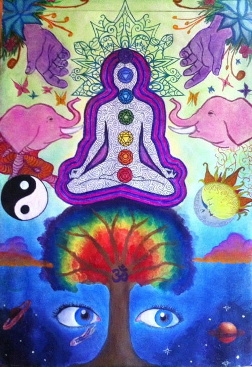 fuckyeahpsychedelics:  Relax, Find Your Center created by mel-s-d