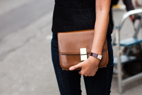 fashionchalet:  Dreamy brown leather clutch/bag <3