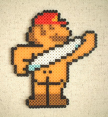 it8bit:  Sexy Spa Mario - by Danny Yama