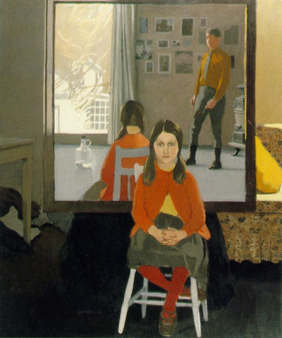 Fairfield Porter - The painter's mirror (1977)