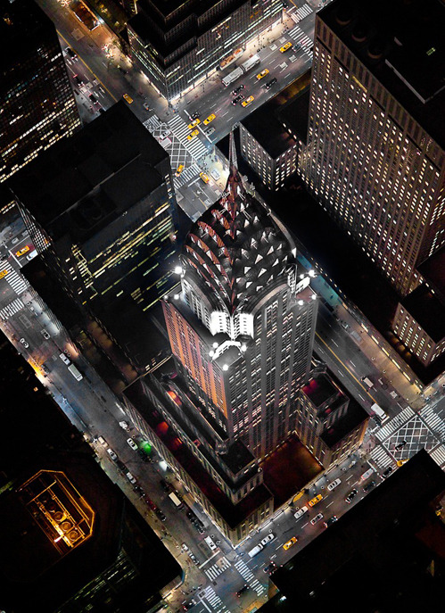 How birds see the Chrysler Building. Maybe when they built it they were planning on making flying cars.