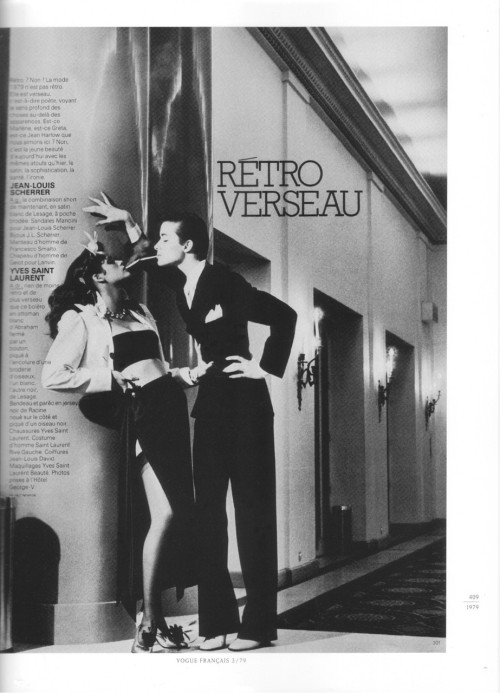 Helmut Newton. 1979. Paris Vogue.