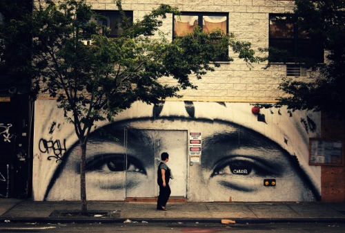 "All eyes on you. Street art. Lower East Side, New York City.  —   View this photo larger and on black on my Google Plus page  —  Buy ""All Eyes on You"" Posters and Prints here, email me, or ask for help."