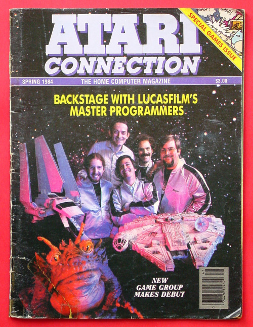 Atari Connection magazine, featuring Lucasfilm interviews. Spring 1984 via MattAndKristy (Flickr).