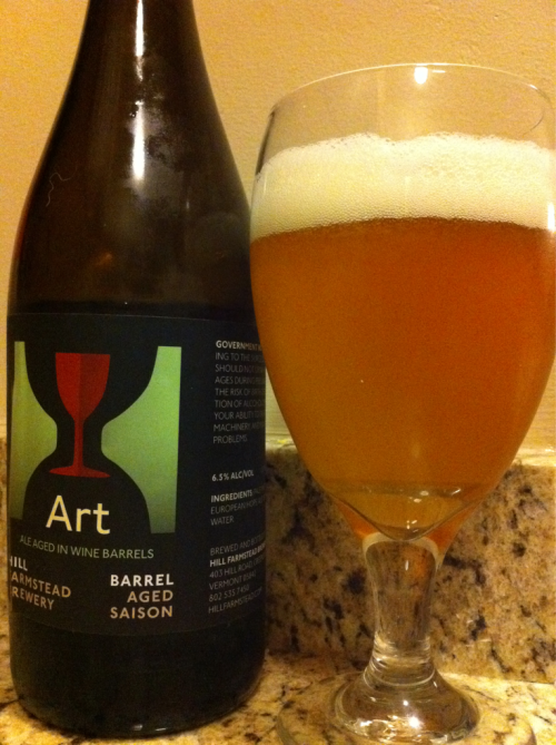 Hill Farmstead Brewery Art (Rate Beer: 99, Beer Advocate: A) The wine barrel aged version of the small VT brewer's Arthur Saison is delicious. I just wish they distributed to Boston so I could drink more.