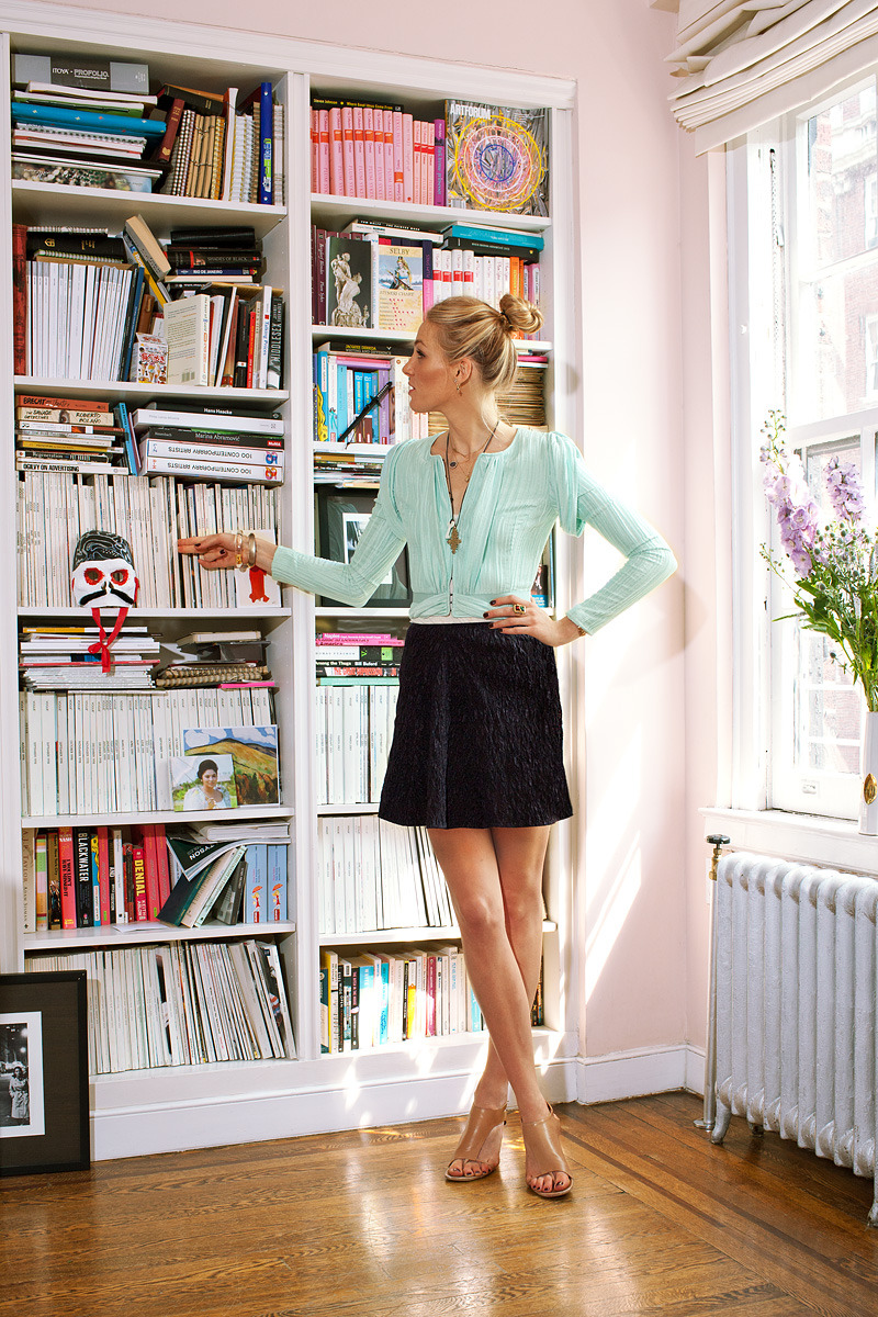 Loving Vogue's Accessories Editor Selby Drummond in her West Village apartment of a longtime Vogue contributor. Very chic!