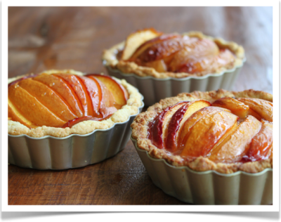 Nectarine and Honey Tarts