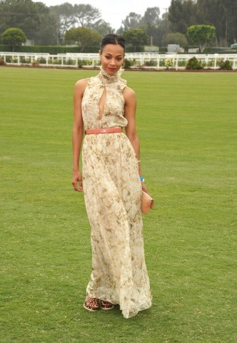 The sizzling Zoe Saldana at the Polo Foundation in L.A. with the Duke and Duchess of Cambridge. Do you love it?
