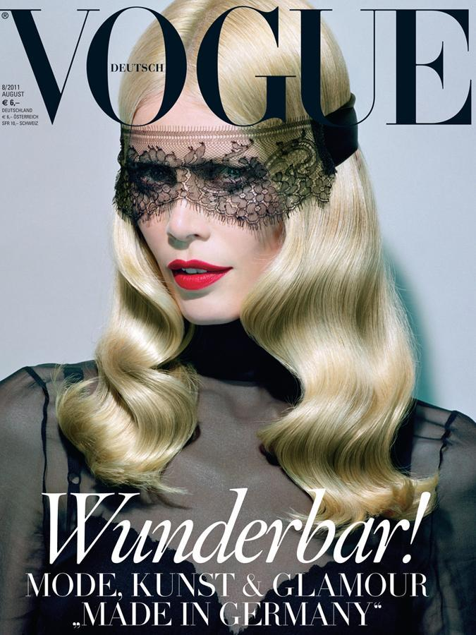 heatherandrose:  Vogue Germany August 2011 shot by Miles Aldridge Model: Claudia Schiffer