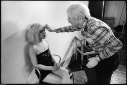 suicideblonde:  Debbie Harry and Andy Warhol