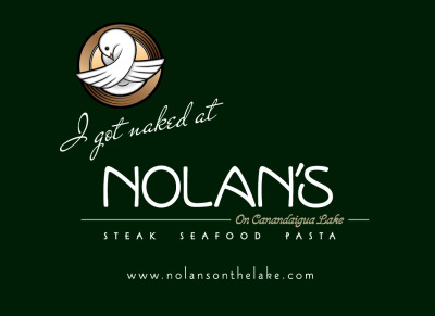 Nolan's Restaurant T-Shirt Design with Naked Dove Brewery