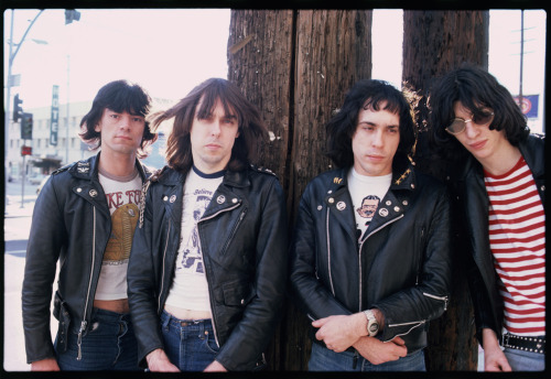 This is an early Ramones photo of mine back when the band would stay at the old Tropicana Motel on Santa Monica Blvd. They adored The Trop and the coffee shop, Dukes where the specialty of the house was a frozen Snickers bar!  Photo by Brad Elterman