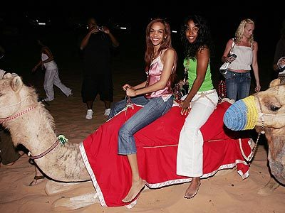 Michelle & Kelly in Dubai for Destiny Fulfilled & Lovin It Tour.