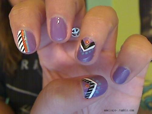 my current nails: tribal-ish