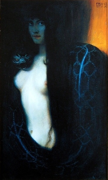 mudwerks:    The Sin (Die Sünde, 1893) by German symbolist painter Franz von Stuck.   I am so in love with this painting, and I had the luck to see it live in München (Munich) <3333