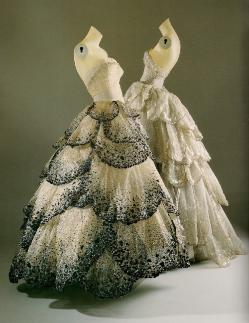 theyroaredvintage:  Christian Dior ball gowns from 1949