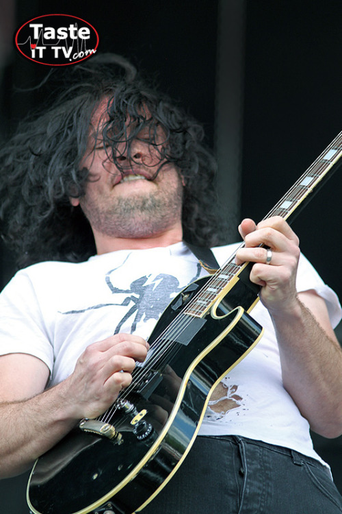 The cool Ray Toro at Werchter in Belgium. Please reblog this picture and tell all your friends about youtube.com/TasteiTTv !!! Check out the pics and interviews with My Chemical Romance, MSI, TBS, HIM, The Blackout, Jimmy Eat World,… Thanks people, it really makes a difference! PS: Add us on FB and Twitter too!