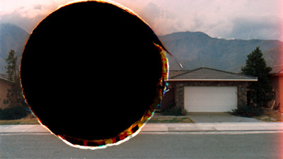 "chourouge:  Amie Siegel, ""Black Moon/Hole Punch #6,"" 2010.Cibachrome print from S-16mm film transferred to HD, 52.5 x 79.2 cm."