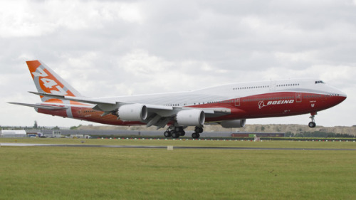 Dear Boeing - Love the new 747-8…the aircraft, the technology, the rockin GEnx engines, and of course the flight across the pond on biofuels.