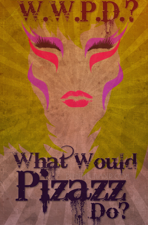 kittyglitterbox:  My Latest Creation.  What Would Pizazz Do?