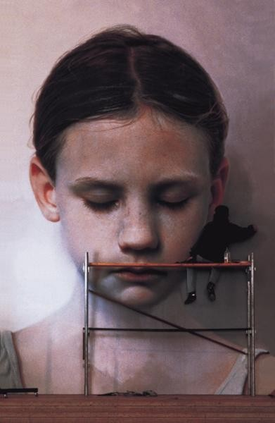 Gottfried Helnwein - Kindskopf (Head of a Child) 1991