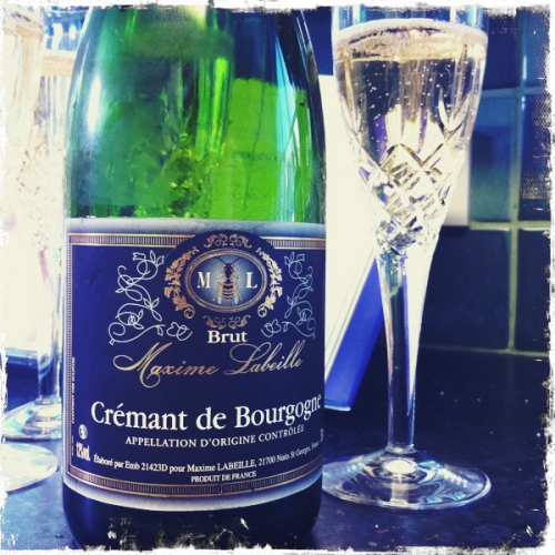 "Maxine Labeille Cremant de Bourgogne NV  A lovely yeasty nose on this one and a good creamy palate with notes of pineapple.  Good stuff from Nuits St Georges indeed! Pleased the ""I only drink Champagne"" members of the group too…."