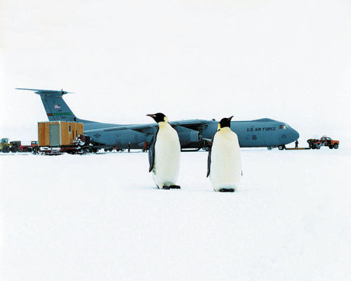 usairforce:  C-141 participating in Operation Deep Freeze