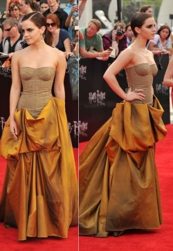 LOVE her dress! Emma Watson wearing Bottega Veneta at New York Premiere Of Harry Potter and the Deathly Hallows part 2