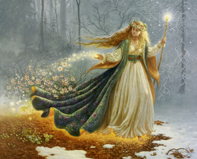 Freyja. Norse goddess of love, beauty, fertility, gold, war, and death. Her tales are very storied and complex.