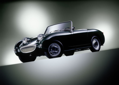 "goodoldvalves:  Austin Healey Sprite MKI (1958) ""If it ain't frogeyed, it ain't a proper Sprite!"" — by me, just now. Classic. On a slightly more serious note, I'll tell you really quickly why I like the Sprite. Because it is no match for Ferrari or Lamborghini… as far as attention is concerned. The MKI Sprite just begs for attention, and he (yes, he) gets it everytime. I've seen a few Sprites on the road (they aren't all broken you know) and people just look at it until their necks start to hurt. They're probably just trying to figure out what animal he resembles. But you can't miss it. Ugly or not, design wise, the Sprite is a charmer. A frog just waiting to be kissed. And most of the time, fixed as well."