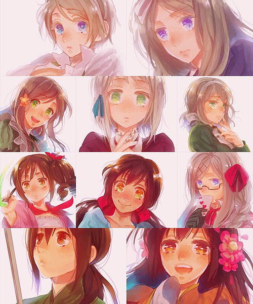 ♚ aph ; hetalia girls  this is what i do with my time ahahaha