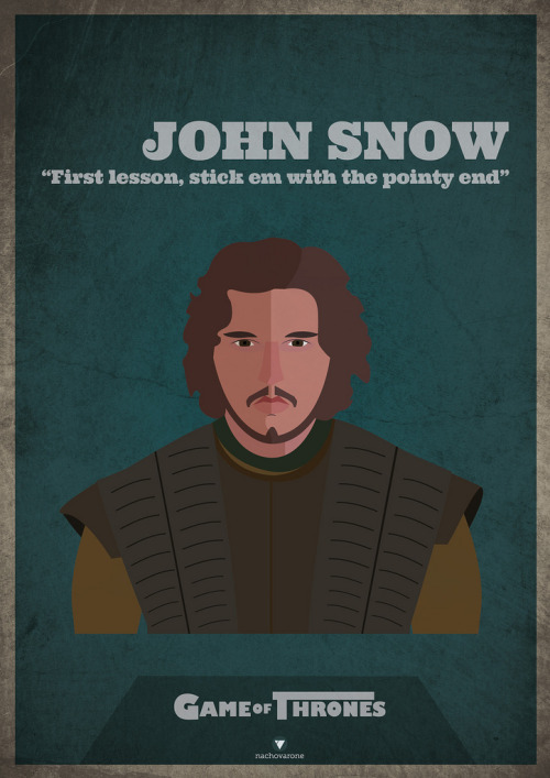 Game of Thrones: John Snow by Nacho Varone He knows nothing…