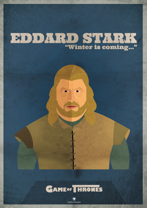 Game of Thrones: Eddard Stark by Nacho Varone