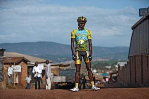 cadenced:  Nathan Byukusenge from Team Rwanda. There's a fascinating account of efforts to bring Rwanda's cycling talents to the world stage in the New Yorker. You can also find coverage of the Tour of Rwanda over at Cycling News which is where the photo by Mjrka Boensch Bees comes from.