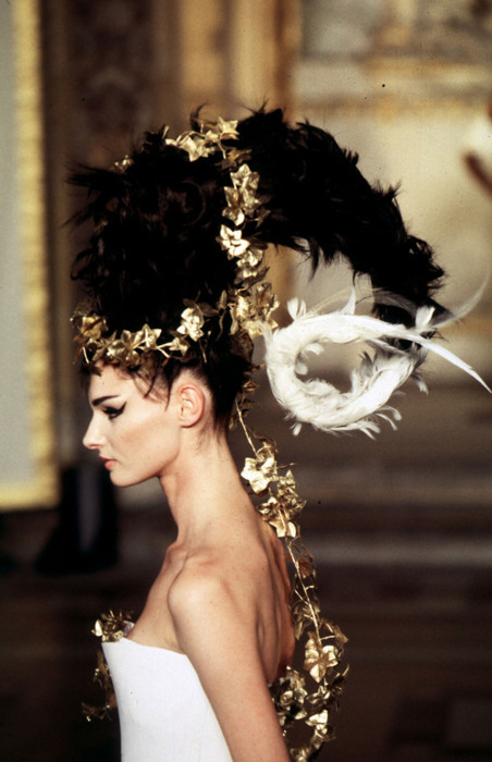 Alexander McQueen for Givenchy Haute Couture 1997.