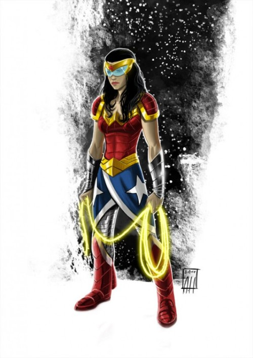 museofspeed:  Wonder Woman… in SPAAAAAAAAACE. From Project Rooftop.