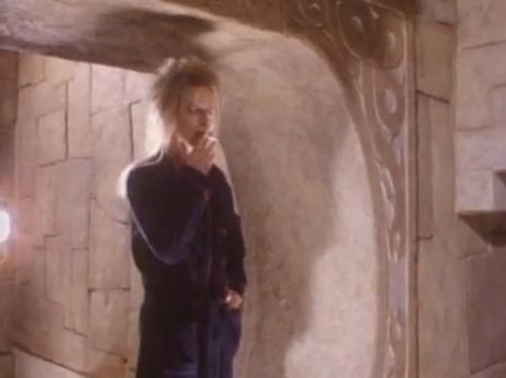 The Goblin King takes a cigarette break.