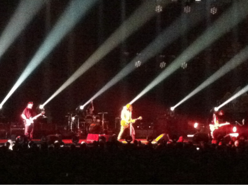 Soundgarden was great on Tuesday night. This was taken during the encore performance of Like Suicide. I never got to see them live back in the day, although I did see Chris Cornell on a solo tour four years ago. Glad they are back together so I could finally see Soundgarden Proper.