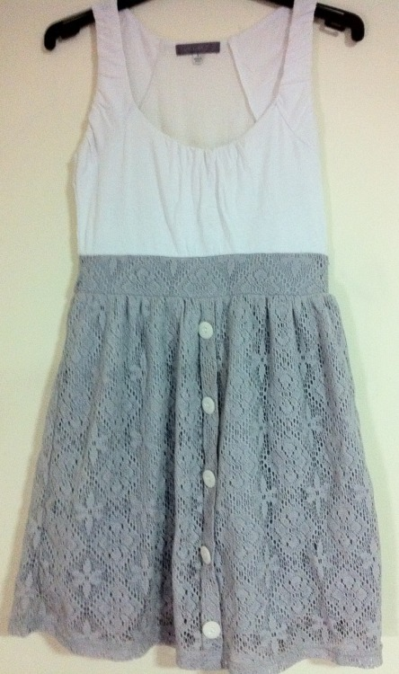 TEMT LACE DRESSColour: White & GreySize: SCondition: Never worn, Brand newRRP: $30Selling for: $15 SOLD