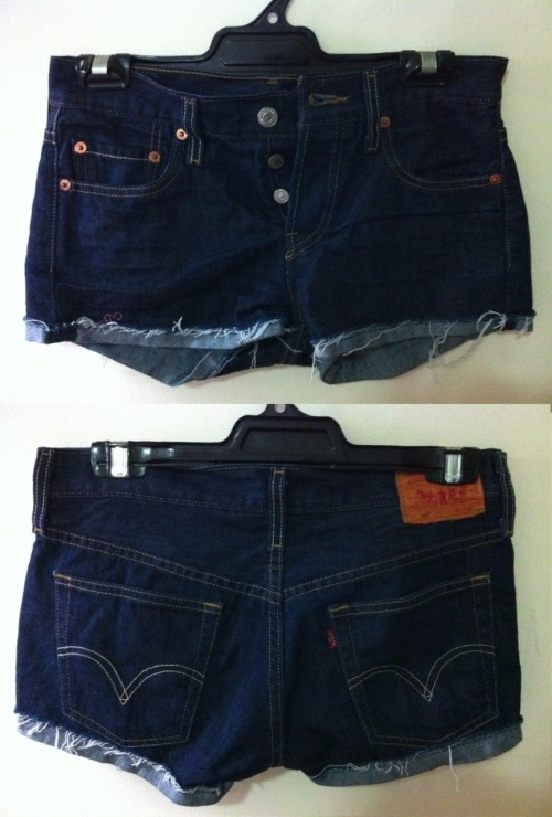 LEVIS DENIM FRAY SHORTSSize:  8Condition: Excellent, as newSelling for: $40