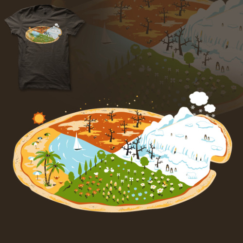 Authentic 4 Seasons Pizza … delicious :D New design for Shirt.Woot derby 208: four. If you like, you can vote here.