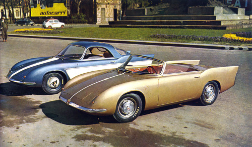 Abarth 750 Coupe / Roadster (1956) Bertone design.