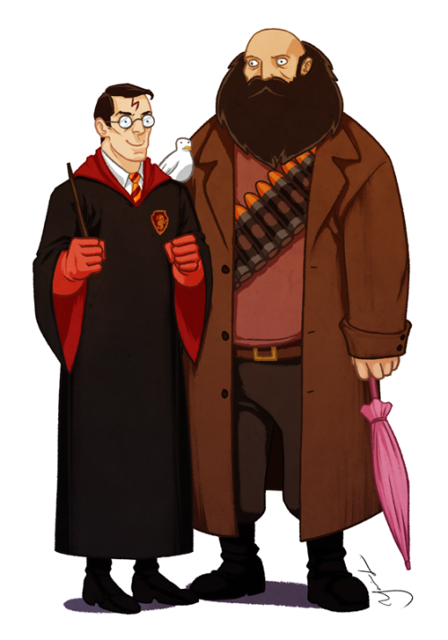 sherlockstark:  gamers-kitchen:  justinrampage:  Heavy Hagrid and Medic Harry are bringing a magical touch to the Team Fortress 2 arena thanks to Yasmin Liang. Follow her work here on Tumblr. I love this wizard! by Yasmin Liang (Tumblr) (deviantART) (Twitter) Via: yasminliang  YOU'RE A BLOOD FETISHIST, HARRY  yay! i found it :D