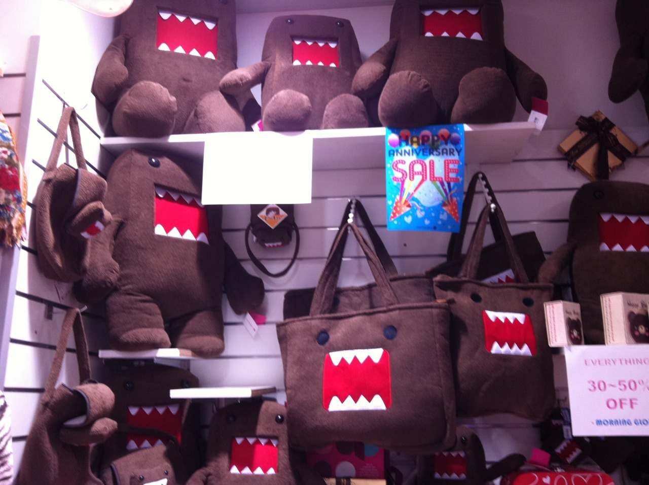 domo kun sale at morning glory! <3 <3
